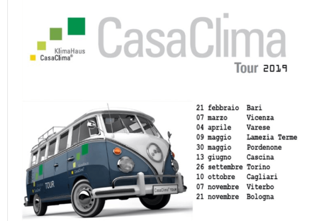 CasaClima Tour 2019, am 26.9. in Turin